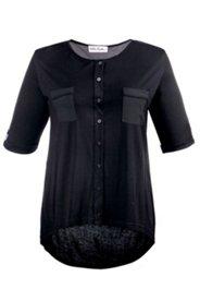 Shirtbluse aus Jersey, mit Rückenfalte