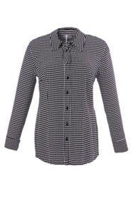 Bluse mit geometrischem Muster, Langarm