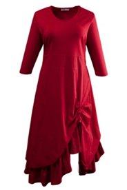 Kleid, raffiniert geschnitten, Bio-Baumwolljersey