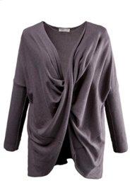 Pullover, drapiertes Vorderteil