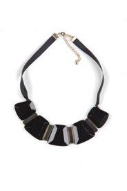 Kette, schwarz-metallic, Ripsband