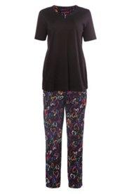 Pyjama, Hose mit Herzmuster