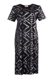 Kleid mit Metallic-Druck