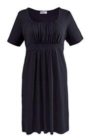 Kleid, Halbarm mit Drapierung