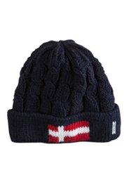 Mütze aus Zopfstrick mit isolierendem Fleece