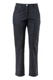 Jeans mit Leopardenmuster, gerades Bein