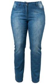 Jeans mit Elasthan, gerades Bein