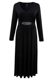Kleid mit Strassmotiv, Stretch