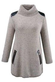 Pullover mit Details in Lederoptik