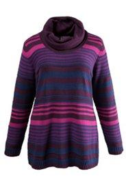 Pullover mit weitem Rollkragen, Grobstrick