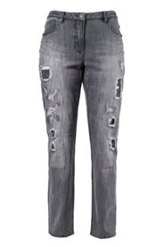 """Jeans mit """"Destroy-Effekten"""", gerades Bein"""