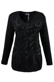 Jacquard-Pullover mit Blütenmuster