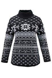 Pullover mit Norwegermuster und Stehkragen