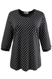 Shirt mit Elasthan, Polka Dots