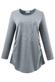 """Shirt mit Strass-Schriftzug """"FEEL GOOD"""", Stretch"""