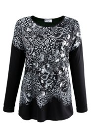Shirt mit Metallic-Effekten, Stretch