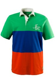 Poloshirt, Pikeejersey, breite Streifen, Twill-Kragen