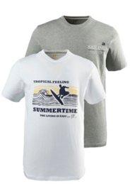 T-Shirts, 2-er Pack, SUMMERTIME