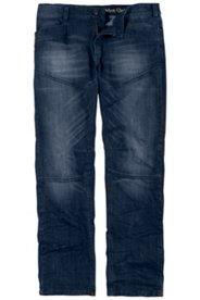 5-Pocket-Jeans, Loose Fit, darkblue, mit Teilungsnähten