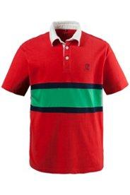 Poloshirt, Jersey, Bruststreifen, Twill-Kragen
