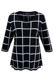 Pullover mit Gittermuster, weiche Viskosequalität
