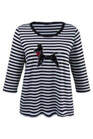 Shirt mit Hundemotiv aus Pailletten, A-Linie