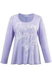Pullover mit Schriftzug und Ziersteinen, Oil-Dyed