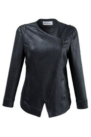 Jacke im Biker-Look, Stretch