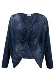 Pullover in gedrehter Optik, kurzes Modell