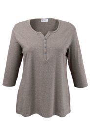 Shirt mit Knopfleiste, Stretchkomfort