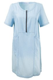 Jeanskleid mit Reißverschluss, A-Linie