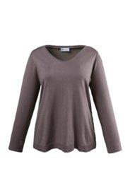 Pullover aus weichem Strick mit Rollkanten