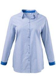 Bluse mit Ellenbogenpatches, Stretch