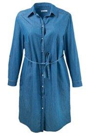 Jeanskleid mit Gürtel und Taschen