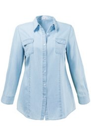 Jeansbluse in Sommerqualität