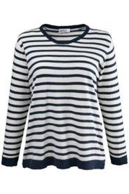 Pullover mit Ringelmuster, 100 % Baumwolle