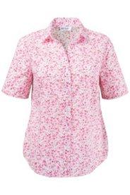 Bluse mit offenem Hemdkragen, 100 % Baumwolle