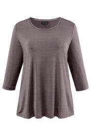 Shirt mit Strickbund, A-Linie