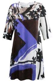 Kleid aus Seide-Viskose-Mix, 3/4-Arm