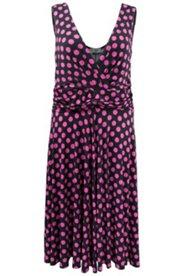 Kleid mit Punktmuster und weitem Tellerrock