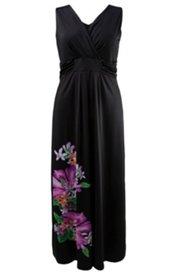 Sommerkleid mit Blütenmotiv, schwingendes Modell