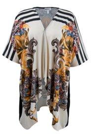 Shirtjacke im Kimono-Stil, Hakenverschluss