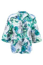 Bluse mit Blütenmuster, 100 % Baumwolle