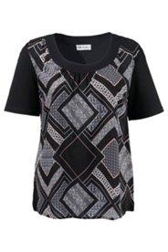Shirt mit Rautenmuster und Elasthan