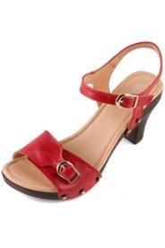 Sandaletten mit 7 cm Absatz, Weite H