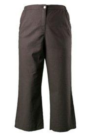 7/8-Hose, 5-Pocket-Form, Leinen-Mix, Spitzendetails