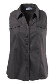 Blusentop mit Hemdkragen, Stretchkomfort