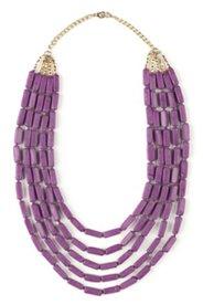 Halskette, 5 Reihen mit Stein-Deko