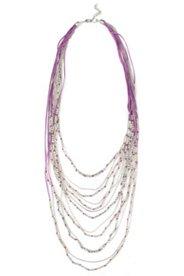 Halskette, mehrreihiger Perlenmix