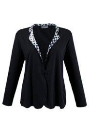 Shirtjacke mit Druckknopf, Stretchkomfort